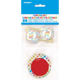 Cupcake Kit Happy Birthday Rainbow Party