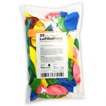 55 Latexballons Bunter Mix ø22cm