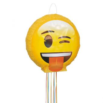 Pinata Emoji mit Ziehbändchen 40cm