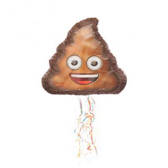 Pinata Emoji Smiley Poop mit Ziehbändchen