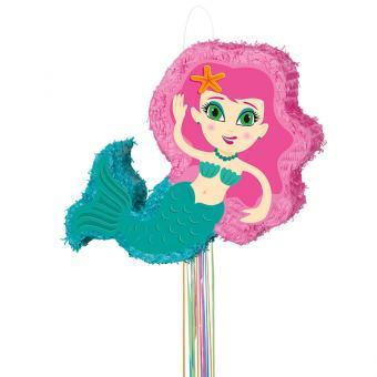 Piñata Meerjungfrau mit Ziehbändchen