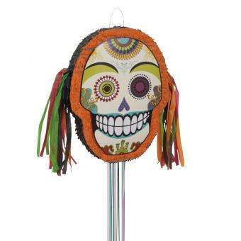 Pinata Sugar Skull mit Ziehbändchen