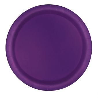 16 Pappteller Violett ø23cm