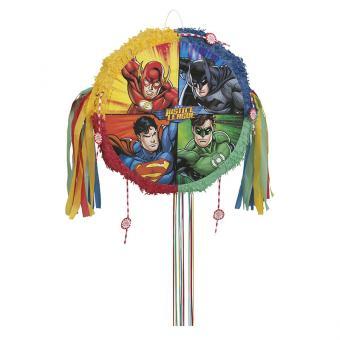 Justice League Pop-Out-Piñata mit Ziehbändchen