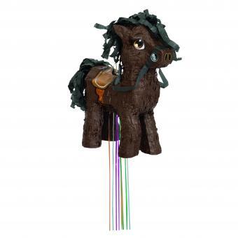 Braunes Pferd Piñata mit Ziehbändchen