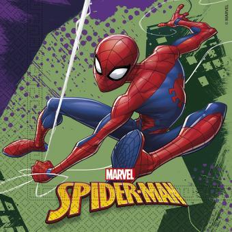 20 Servietten Spiderman 33cm