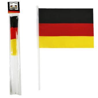 4 Deutschland Fahnen 14x21cm